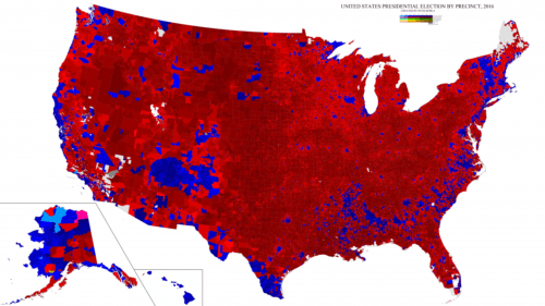 2016 US Presidential Election Precinct Map Real America